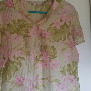 Tommy Bahama XL silk button down